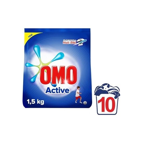 Omo Matik Active Toz Deterjan 1.5 kg