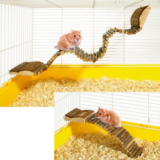 Karlie Ahşap Kemirgen Oyun Merdiven 27 x 7 cm