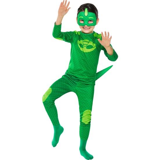 PJ Masks PijaMaskeliler Kertenkele Çocuk Kostüm 4 - 6 Yaş