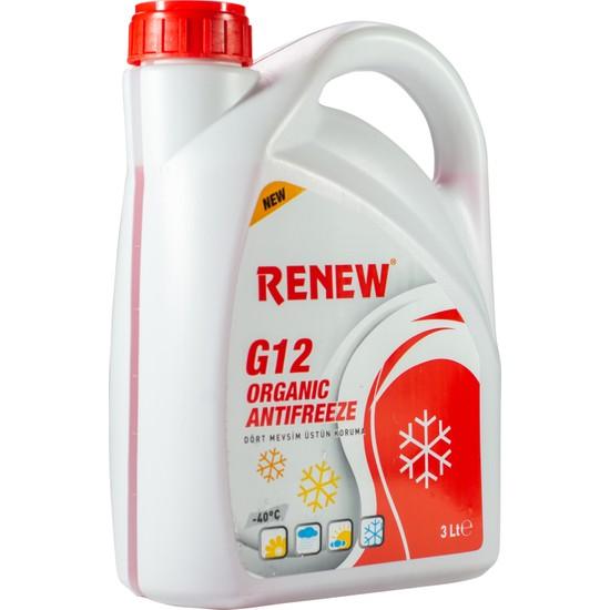 Renew G12 Organik Kırmızı Antifiriz -40C 3 Litre ( 2020 Üretim )