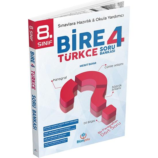 Bilim Yolu 8. Sınıf Bire 4 Türkçe Soru Bankası