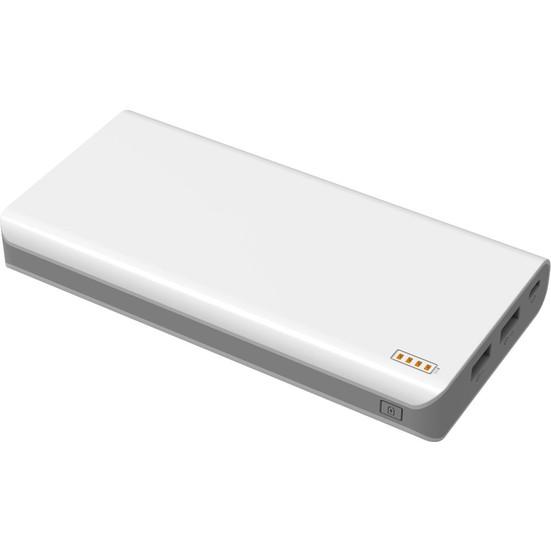 Case 4U 20000 mAh 2C Taşınabilir Şarj Cihazı Powerbank - 2 Çıkış Portu - Beyaz