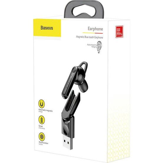 Baseus Manyetik Şarjlı Bluetooth Kulaklık - Siyah
