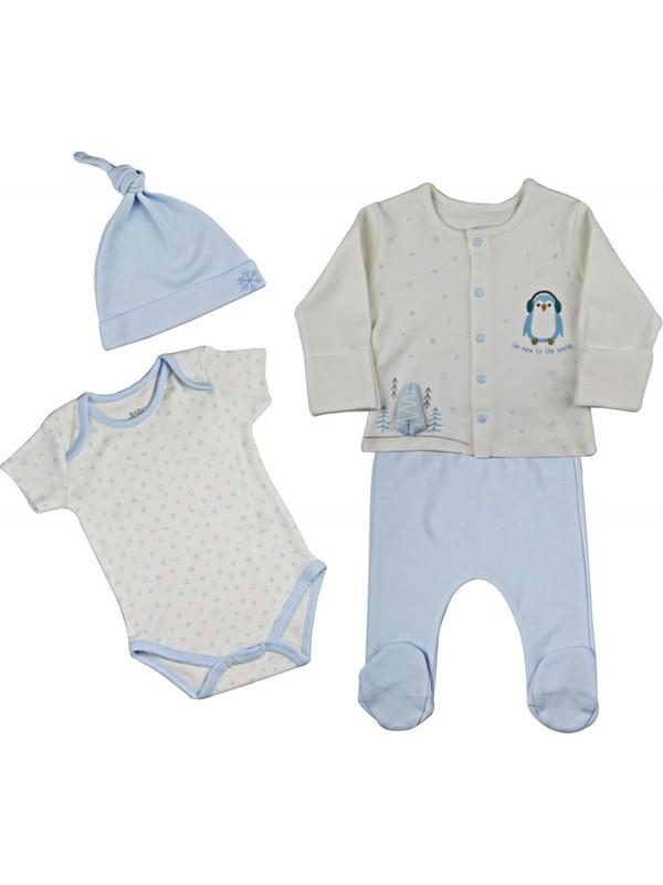 Baby Corner 4'lü Hırkalı Set Penguen