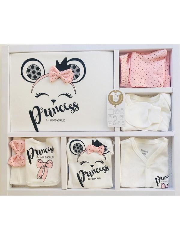 Miniworld Kız Bebek Fiyonklu Prenses 10'lu Hastane Çıkışı Doğal Antialerjik