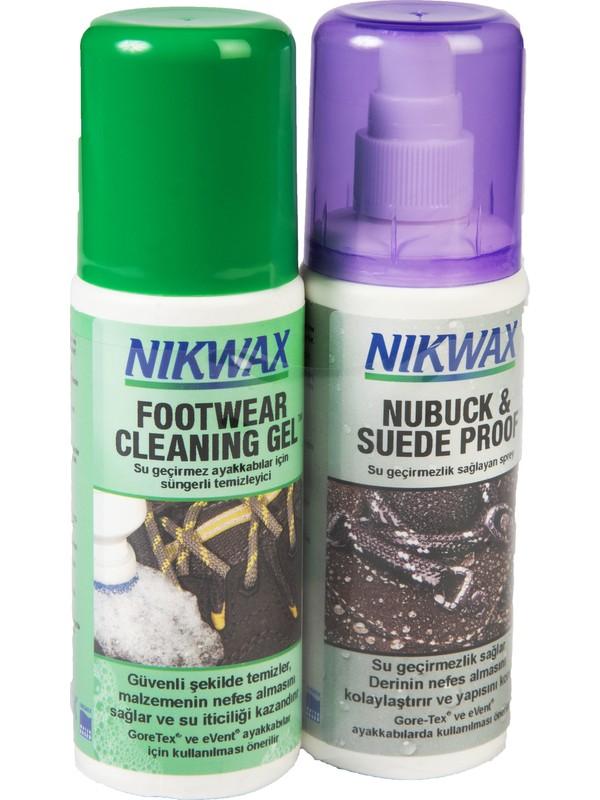 Nikwax İkili Paket Nubuck & Suede Spray + Footwear Cleaning Gel