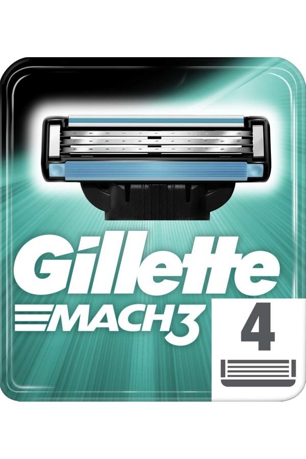 Gillette Mach3 Replacement Razor Blades 4 pieces