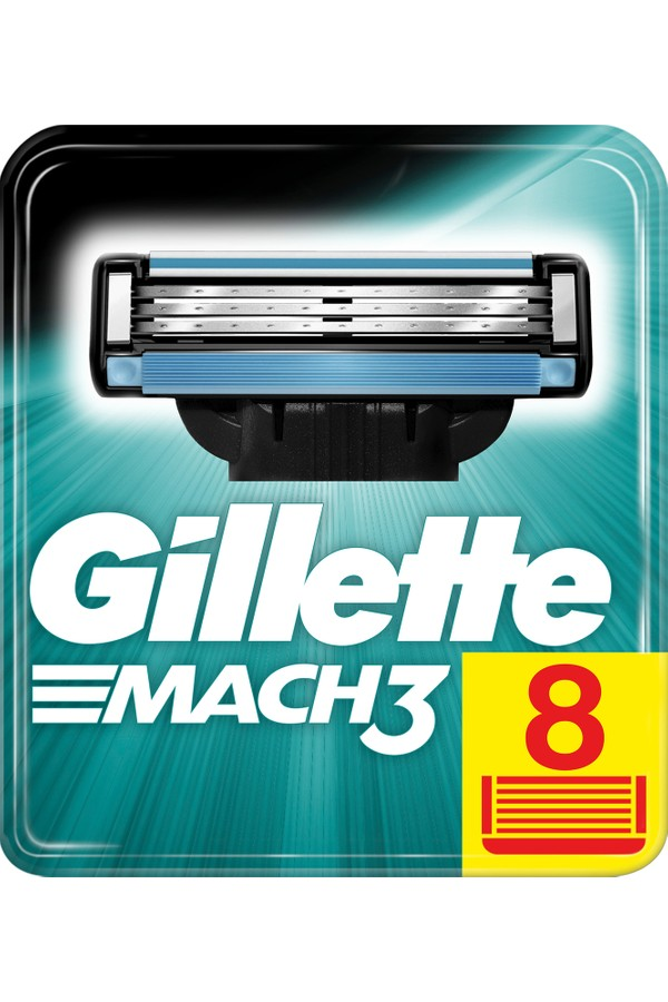 Gillette Mach3 Replacement Razor Blades 8 pieces