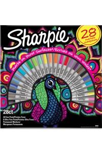 Sharpie Permanent Marker Sharpie Fine Box-28L The Birds