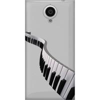 Cekuonline General Mobile Discovery Elite E7 Desenli Esnek Silikon Telefon Kapak Kılıf - Piano