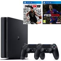 Sony PS4 Slim 1 TB Oyun Konsolu + PS4 Pes 19 + PS4 Nba 2K19 + 2. Kol