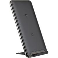 Baseus Three Coil Wireless Hızlı Şarj Cihazı Siyah