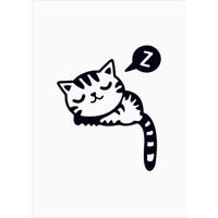 Başaran Sticker Uyuyan Kedi Priz Sticker 14 x 17