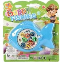 Kurmalı Oyuncak Balık Yakalama Oyun Seti - Mavi