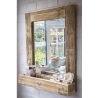 Qtük Raflı Ayna 50 x 40 cm