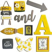 Le Atölye Duvar Konsept Setleri Sarı Gri