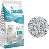 Jingo Marsilya Sabun Kokulu Bentonit Kedi Kumu Kalın Taneli 5 lt