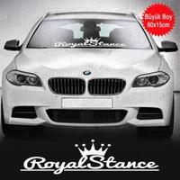 Dizayn Hediye Taçlı Stance Royal Yazılı Beyaz Sticker, Oto, Araba, Araç, Etiket, Aksesuar, Tuning, Modifiye, Arma