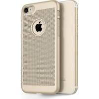 Elite Apple iPhone 7 Fileli Slim Arka Kapak - Gold