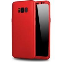 Elite Samsung Galaxy S8 Plus Slim 360 Tam Koruma Rubber Kılıf - Kırmızı