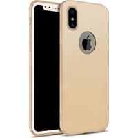 Elite Apple iPhone X Kılıf Gold Rubber Arka Kapak