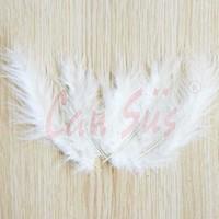Cansüs 100lü Yapay Tüy Beyaz 12 cm