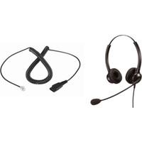 Persephone Duo Mikrofonlu Kulaklık Seti - RJ9 Bağlantılı IP Telefon Kulaklığı