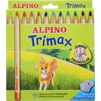 Alpino AL-113 Trimax Jumbo Kuru Boya Kalemi 12'li