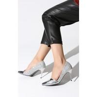 Rovigo Plus Lame Ayna Lame Camkırıgı Kadın Stiletto