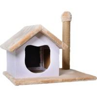 Eurocat Peluş Tırmalamalı Kedi Evi 55 x 50 x 65 cm