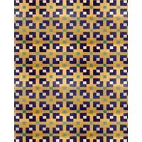 Eshel Maket Desenli Karton Duvar Yeşil-Mavi Kiremit 1/50 - 3'lü
