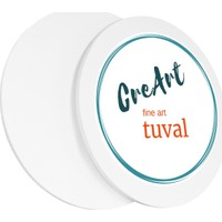 Creart 20 cm Daire Resim Tuvali