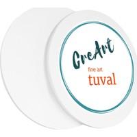Creart 100 cm Daire Resim Tuvali