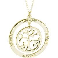 Glorria Kişiye Özel 4 İsimli Hayat Ağacı Gümüş Kolye Glr609-31503