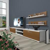 Decoraktiv Eko 4 Mdf Dvd Tv Ünitesi Tv Sehpası Beyaz Ceviz