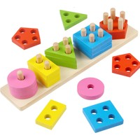 Montessori Ahşap Oyuncak 5'li Set