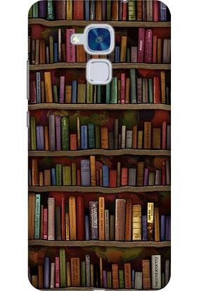 Cekuonline Huawei GT3 Desenli Esnek Silikon Telefon Kapak Kılıf - Kütüphane
