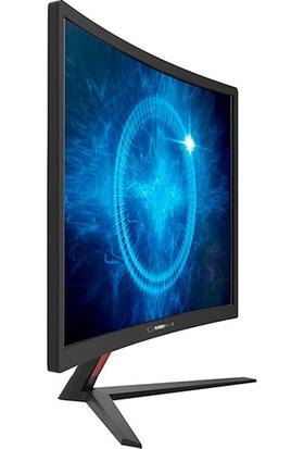 "Rampage Bright RM-61 24"" 144Hz 1ms (HDMI+DVI+Display) Curved Oyuncu Monitör"