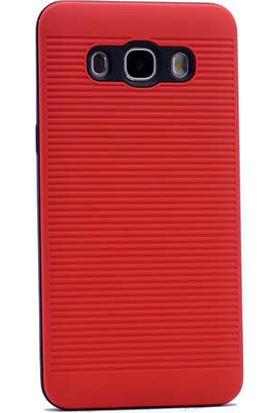 Evastore Galaxy J7 2016 Kılıf Zore Youyou Silikon Kapak - Kırmızı