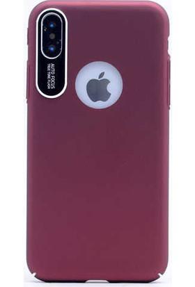 Evastore Apple iPhone X Kılıf Zore S-Line Kapak - Mürdüm