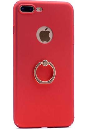 Evastore Apple iPhone 7 Kılıf Yüzüklü Rubber Kapak - Gold