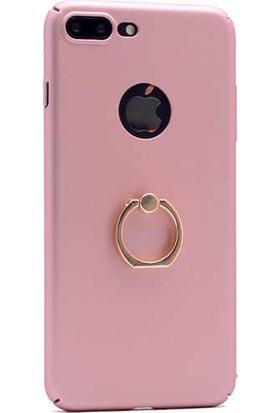 Evastore Apple iPhone 7 Kılıf Yüzüklü Rubber Kapak - Rose Gold