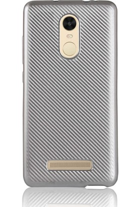 Evastore Xiaomi Redmi Note 3 Kılıf İ-Zore Karbon Silikon - Gri