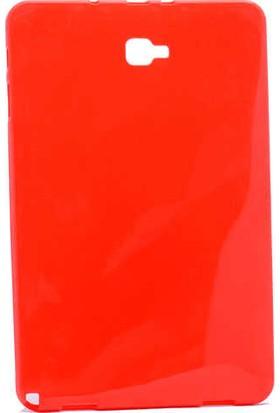 Evastore Galaxy Tab A 10.1 2016 P580 Kılıf Süper Silikon Kapak - Kırmızı