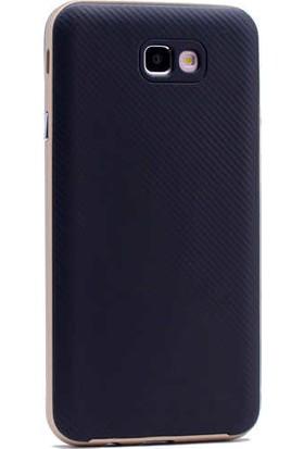 Evastore Galaxy J7 Prime Kılıf Zore İnce Mono Karbon Silikon Kapak - Rose Gold
