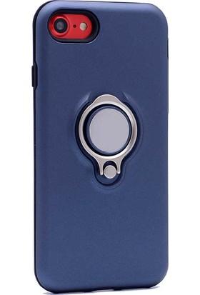 Evastore Apple iPhone 7 Kılıf Zore Ring Youyou Kapak - Lacivert