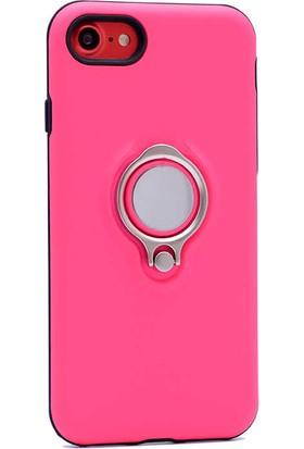Evastore Apple iPhone 7 Kılıf Zore Ring Youyou Kapak - Pembe
