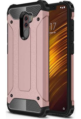 Evastore Xiaomi Pocophone F1 Kılıf Zore Crash Silikon - Gold