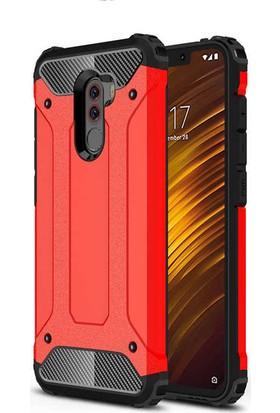 Evastore Xiaomi Pocophone F1 Kılıf Zore Crash Silikon - Kırmızı