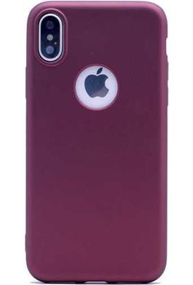 Evastore Apple iPhone XS Max 6.5 Kılıf Zore Premier Silikon - Mürdüm